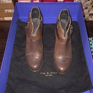 NWT Rag and Bone brown Designer Boots